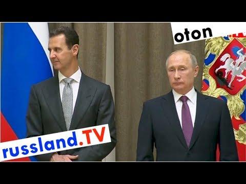 Putin zum Sieg in Syrien auf deutsch