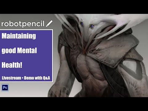 Robotpencil Stream 38 - Maintaining good Mental Health! thumbnail