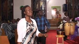 Tema Youth Choir and Good shepherd Methodist Church singing We give you all the Glory.