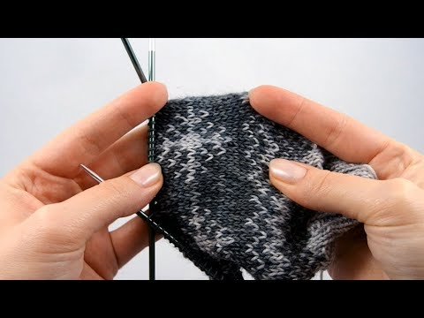 Youtube-Tutorial: Wintersocken #2 Schneeflocken