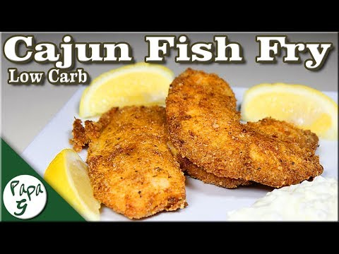 Cajun Fried Fish – Low Carb Keto Seafood Fish Fry Recipe