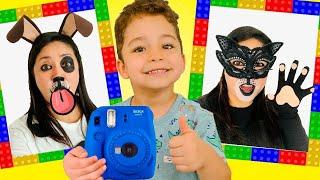 Ethan Pretend play with Magic photos