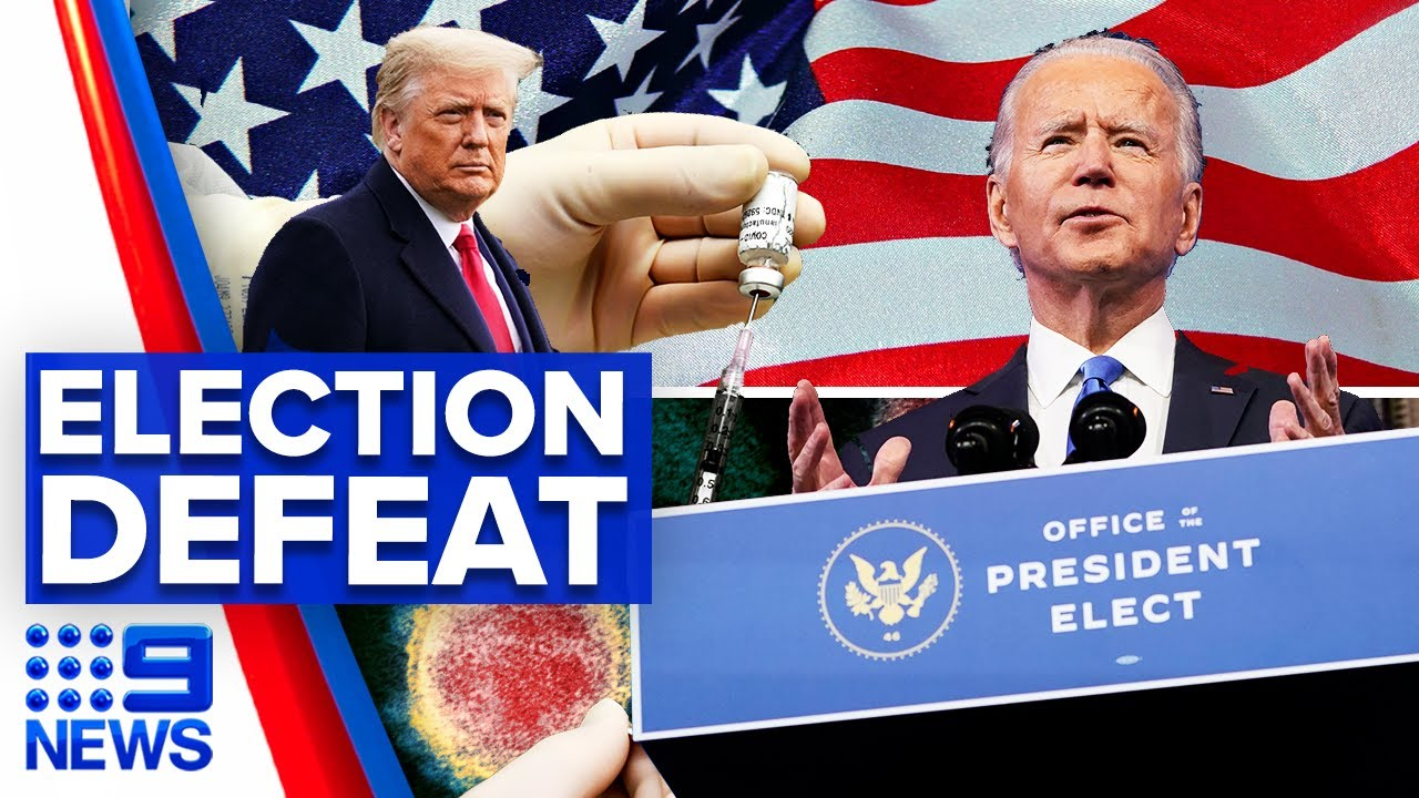 Coronavirus: Trump team admit defeat as Biden encouraged to take vaccine | 9 News Australia