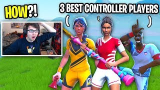 I challenged THREE BEST CONTROLLER BUILDERS to a 1v1 and THIS HAPPENED... (they're GODS)
