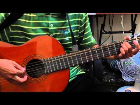 Hướng Dẫn Guitar, Cỏ Úa, hướng dẫn đệm ghita với điệu Slow rock biến thể