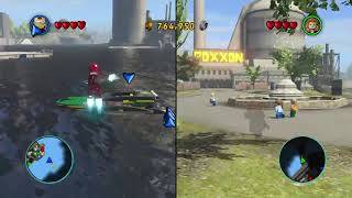 Lego Marvel Super Heroes: Split-Screen co-op Gameplay Fight!
