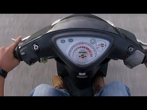 Mio Sporty  Yamaha stock - top speed - GoPro Session Hero4