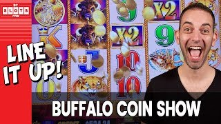 🐃 Buffalo COIN SHOW - Line It UP 💰 $1000 @ GSR Reno ✪ BCSlots (S. 8 • Ep. 5) #AD