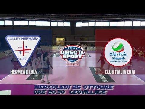 Volley A2F – Golem Hermaea Olbia – Club Italia Crai (3-2)