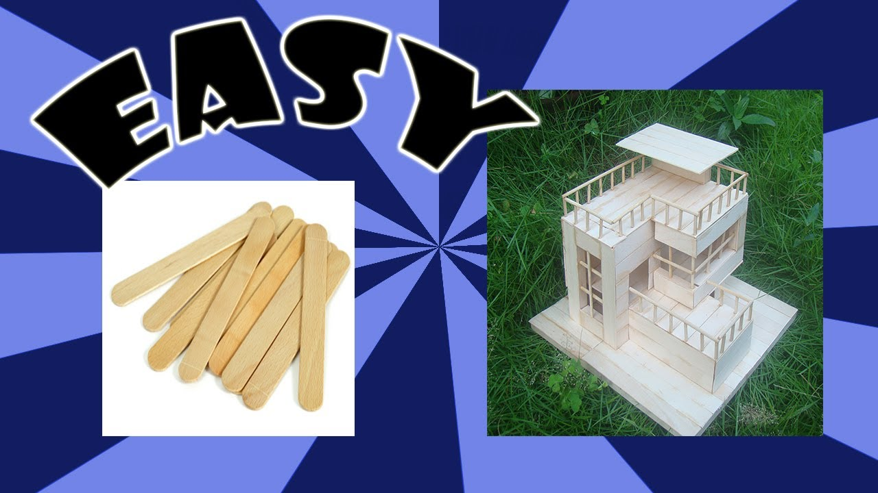 House Popsicle Sticks Small House Interior Design