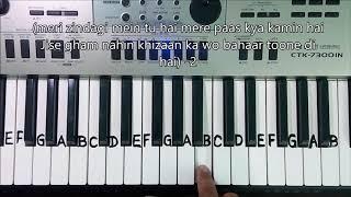Mujhe Ishq Hai Tujhi Se, Piano Full Tutorial.(Film: Ummeed)