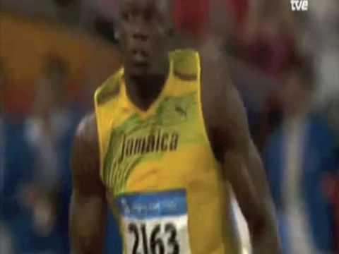 Usain Bolt 9.69s 100m World Record 2008 Beijing Olympics ...