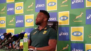 Watch! #SiyaKolisi tells a brilliant story about his #Springbok test debut