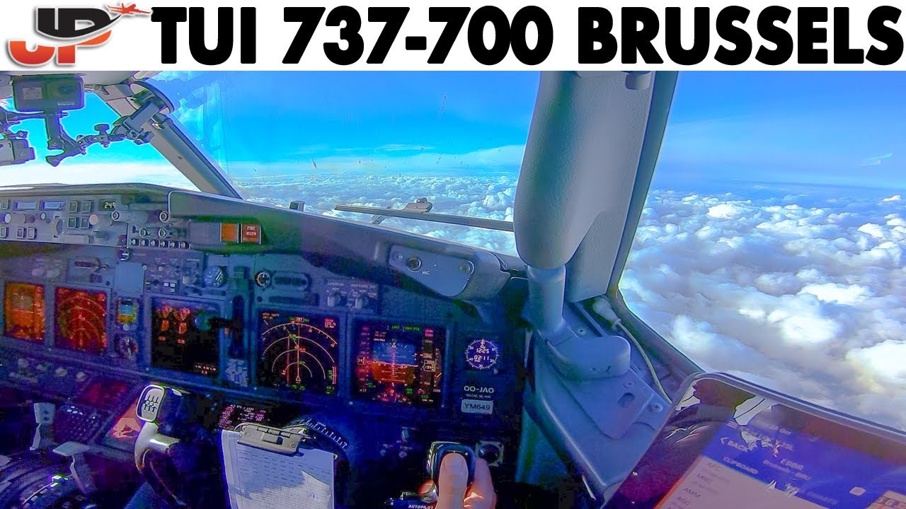 Download Great Pilot Angle BOEING 737 Approach & Landing at Brussels🇧🇪