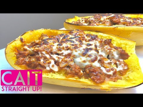 Stuffed Spaghetti Squash Recipe With Sausage | Cait Straight Up