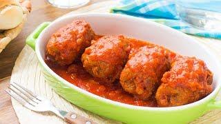 Involtini di Carne al Sugo - Ricetta Facile Involtini con Prosciutto e Formaggio - 55Winston55