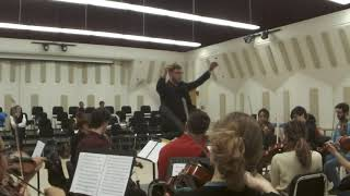 David conducts De Beriot Violin Concerto in A