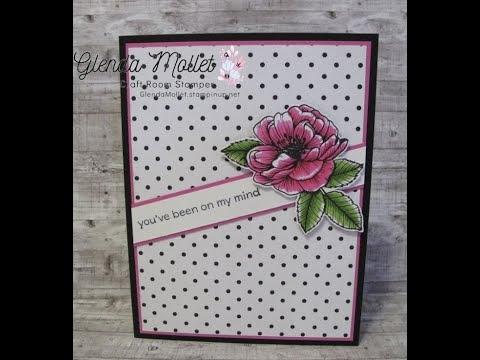 True Love Designer Series Paper Magenta Card