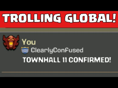 "Clash Of Clans ""TROLLING GLOBAL CHAT"" 