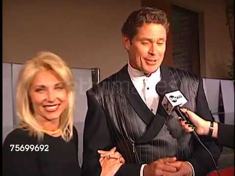 David Hasselhoff   Pamela Bach for the Fire and Ic