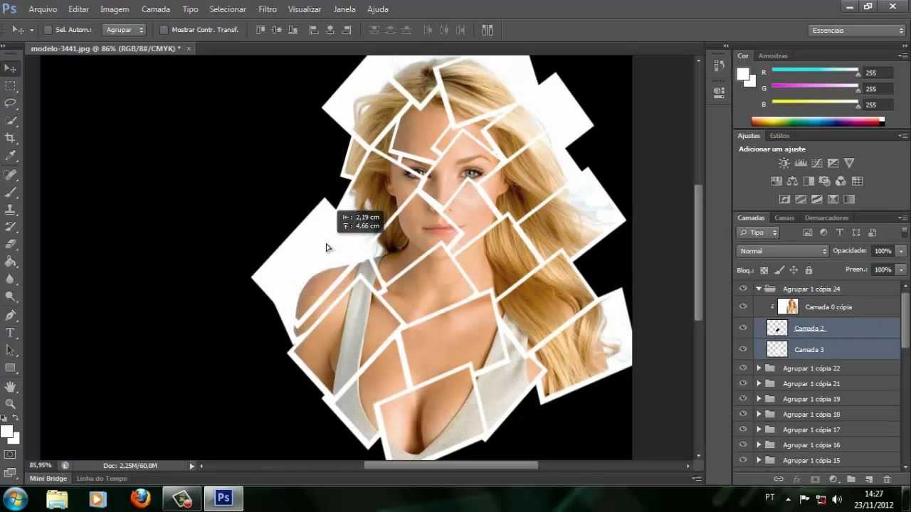 Como criar um grid de fotos - Photoshop