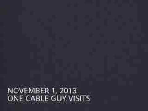 Two Bright House (now Spectrum) cable guy appointments (November 1 and November 14, 2013)