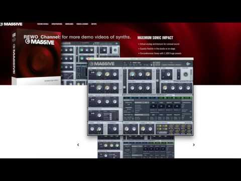 Native Instruments MASSIVE demo of some sounds by REWO