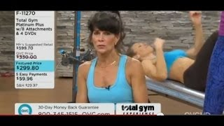 Rosalie Brown on QVC with the Total Gym