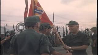 United States 2nd Field Force change of command ceremony at Long Binh, Vietnam. HD Stock Footage
