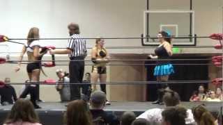 AIWF/NW - The Lovely Lylah vs. MJ Payne vs. Sunni Daze 8/25/12