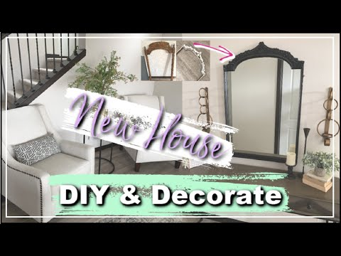 DIY & Decorate The New House With Me | DIY Mirror + Entryway Makeover | House Updates