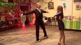 Танец бачата-танго-хастл на Мексиканской вечеринке