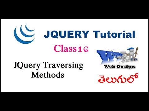 JQuery Traversing In  Telugu 13-vlr training