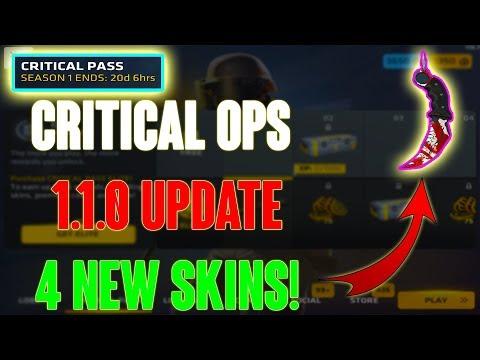Critical Ops Update 1.1.0 - 4 NEW SKINS! Critical Pass Season 1!
