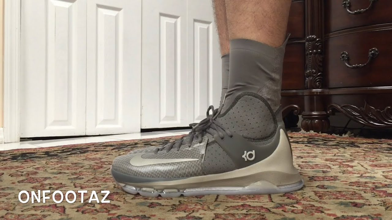 buy online 4bb7b 66dce ... Nike KD 8 VIII Elite Wolf Grey On Foot - YouTube ...