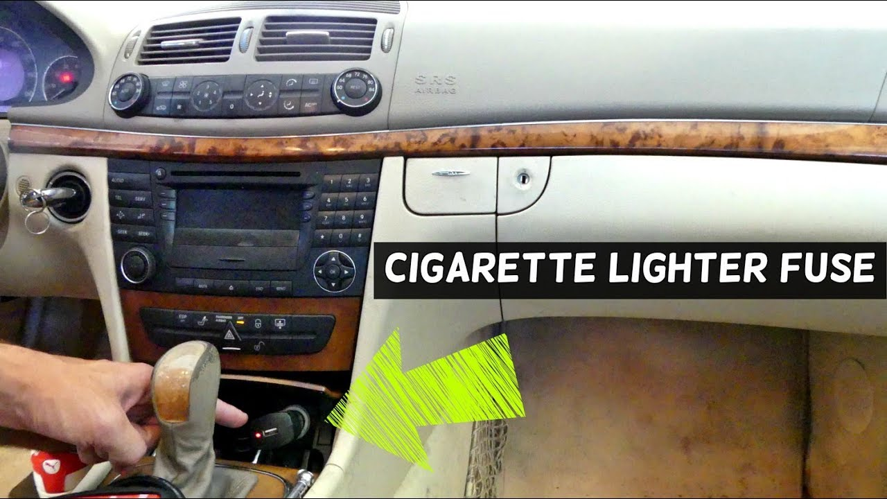 maxresdefault mercedes w211 cigarette lighter fuse replacement location youtube