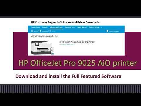 HP OfficeJet Pro 9020 | 9022 |9025 | 9026 | 9028 |9018 Download & Install HP Full featured software