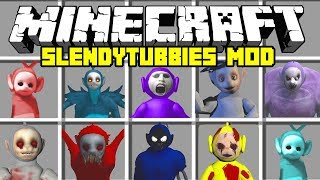 Minecraft SLENDYTUBBIES MOD! | TINKY TANK, POE, TINKY WINKY, Laa Laa & MORE | Modded Mini-Game