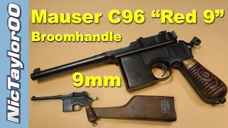 "Mauser 9mm C96 ""Red 9"" Broom Handle Pistol"