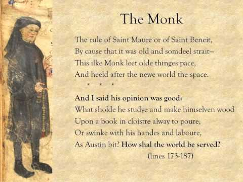 character of monk in canterbury tales
