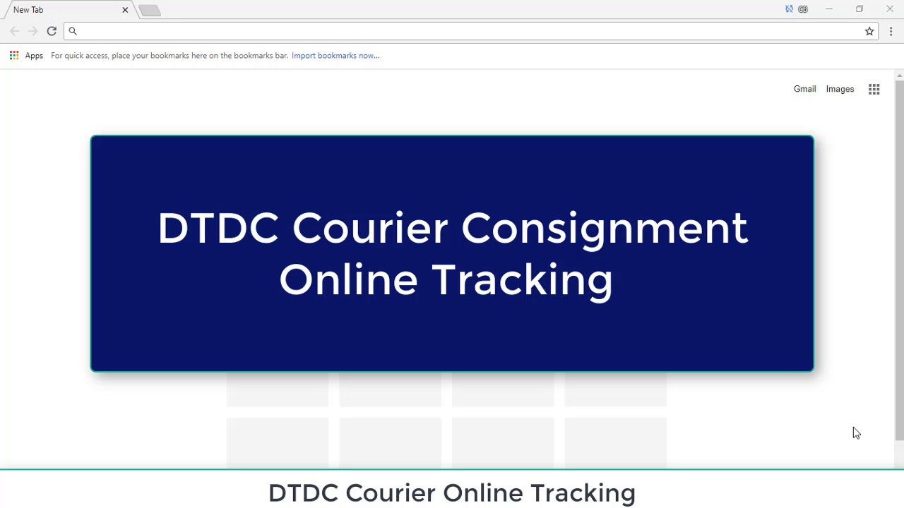 DTDC Courier Online Consignment Tracking India in Hindi