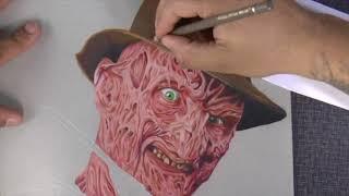 Drawing time-lapse ....  (freddy krueger)
