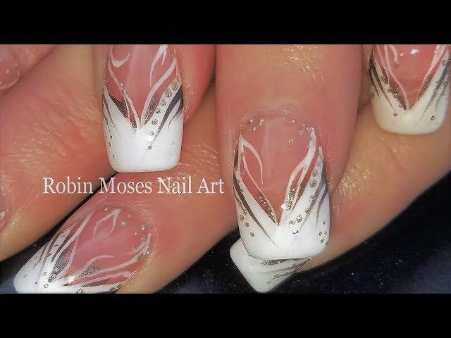 White Stripe Nails   Elegant French Tip Nail Art Design