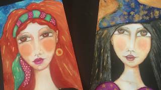 Gypsy Envelopes & A Water Color/The Gypsy & The Witch