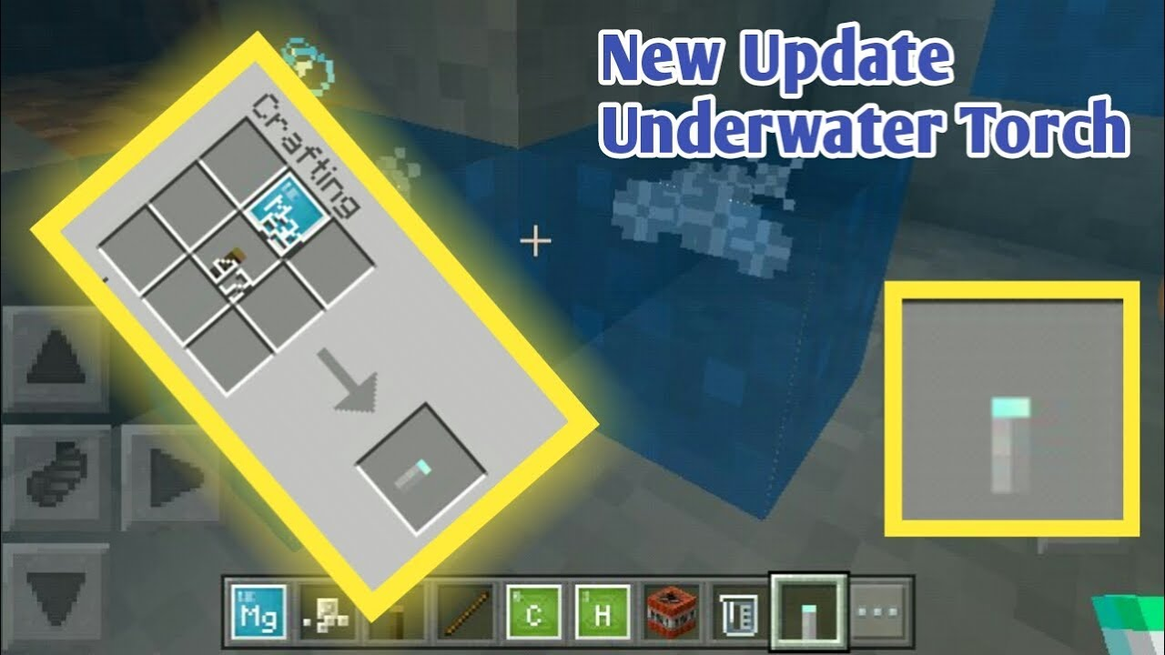 How To Make An Underwater Torch In Minecraft Pe 1 3 Chemistry Update Youtube