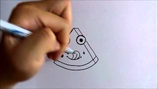วาดการ์ตูนกันเถอะ สอนวาดการ์ตูน แตงโม