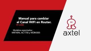 Manual para cambiar el Canal WiFi en Router - Tp-Link.