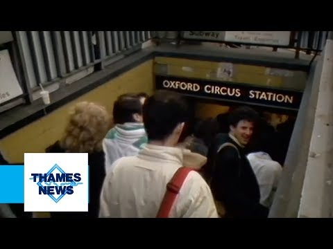 Pick Pockets at Oxford Circus (Underground Station) | Thames News Archive Footage