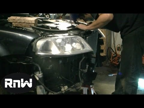How to replace the Timing belt on a 2004 VW Passat Audi 1 8L Turbo Engine Part 1