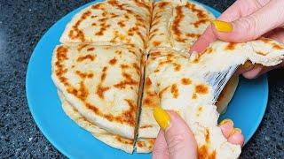 РЕЦЕПТ ПРОЩЕ НЕКУДА Лепешки с сыром на сковороде Горячая закуска с сыром